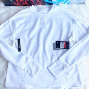 Nike Dri-FIT UV Long Sleeve White Golf Top NWT